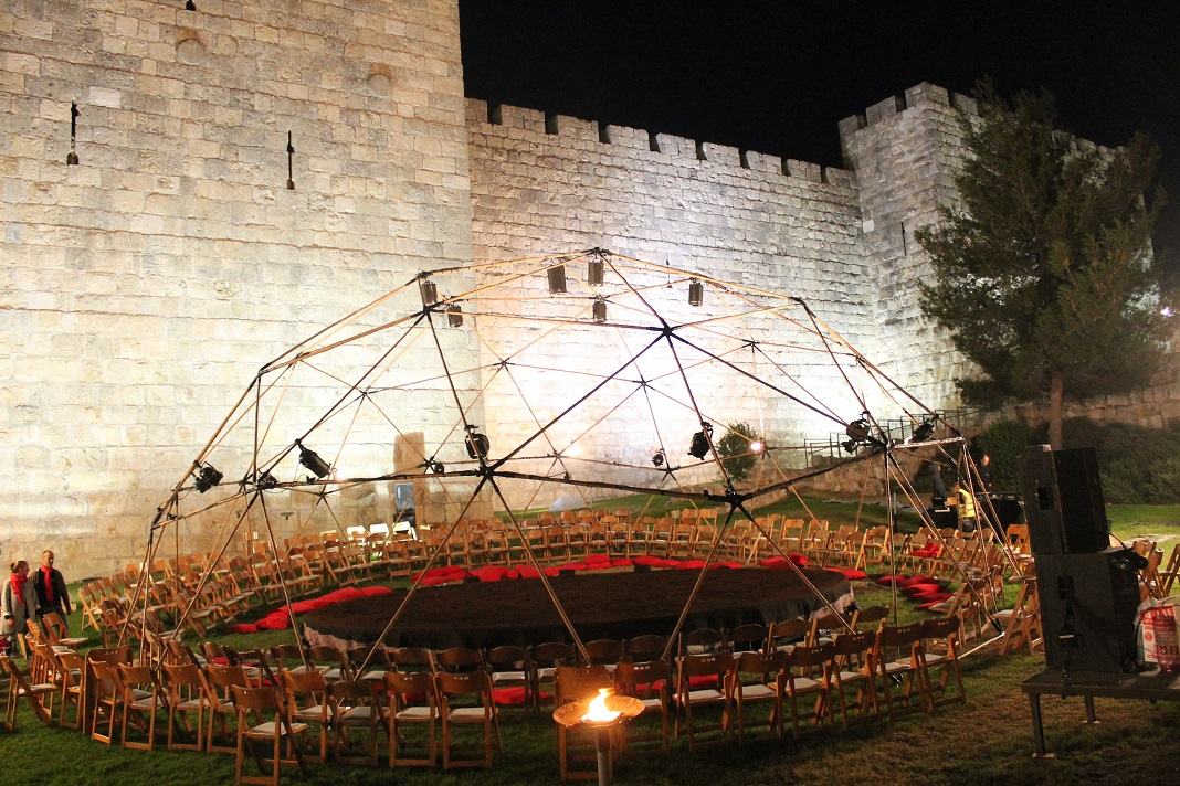 כיפה גאודזית ורטיגו חומות ירושלים 2