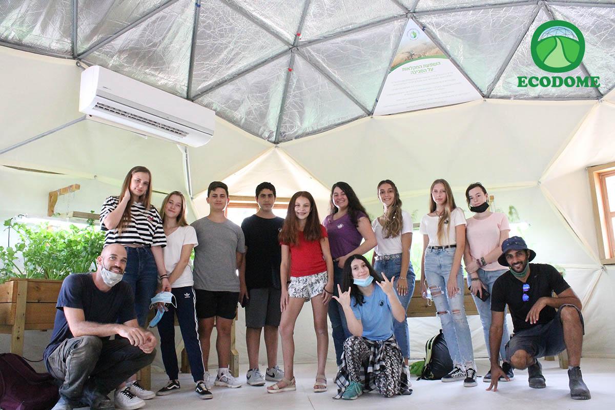 כיפת סטודיו מבודדת דגם טריפל סקין - אקודום בבית ספר עתיד רזיאל הרצליה
