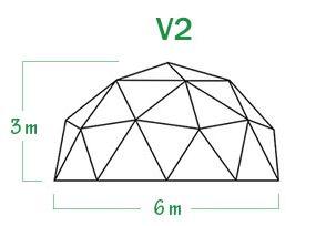 שלד כיפה גאודזית V2 קוטר 6 מ