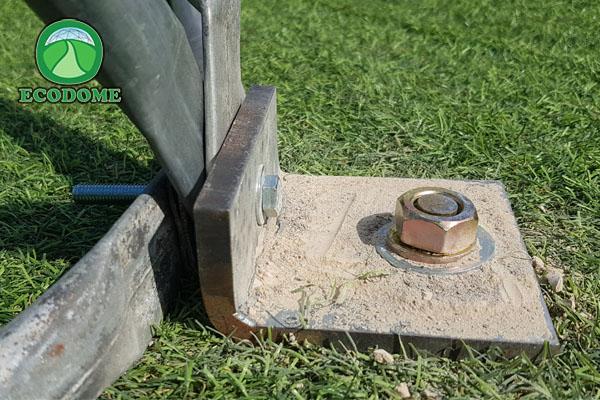 עיגון כיפה גאודזית לרצפת בטון