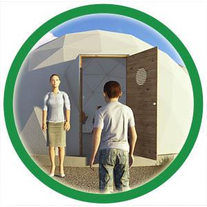 דלת מותאמת לכיפה גאודזית